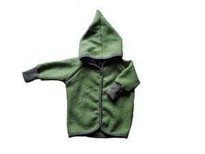 Baby Wollwalk Jacke mit Zipfelkapuze - Ulalü