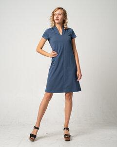 Softes Kleid mit Kelch-Ausschnitt aus Bio-Baumwolle 'Brushed Dress' - Alma & Lovis