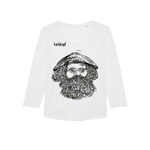 VIETNAMESE Bedrucktes Damen T-Shirt -langarm- aus Bio-Baumwolle - karlskopf
