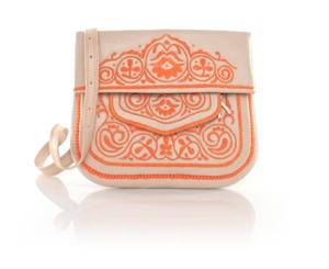 ABURY Berber Shoulder Bag Omari - Peach and Creme  - ABURY