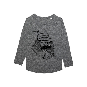 SÄNGER Bedrucktes Damen T-Shirt -langarm- aus Bio-Baumwolle - karlskopf