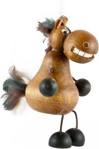 Pferd Hüpftier/Schwingfigur aus Holz - ReineNatur