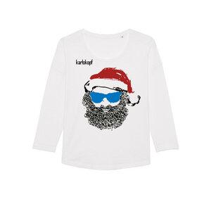 SANTA KARL Bedrucktes Damen T-Shirt -langarm- aus Bio-Baumwolle - karlskopf