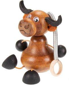 Kuh Hüpftier/Schwingfigur aus Holz - ReineNatur