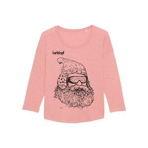 SKIFAHRER Bedrucktes Damen T-Shirt -langarm- aus Bio-Baumwolle - karlskopf