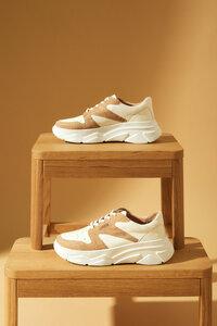Sneaker aus vegetabil gegerbtem Leder und Kork - LANIUS