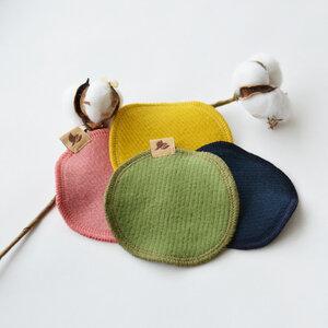 Waschbare Reinigungspads aus Bio-Baumwolle (6er-Pack) - Robin