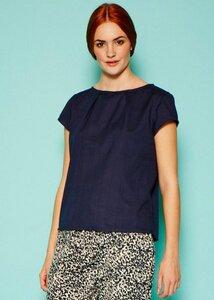 Cosima blouse navy - People Tree
