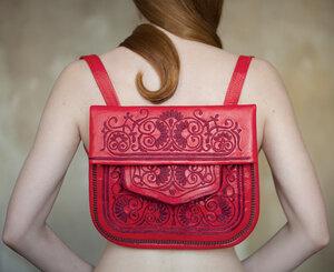 ABURY Berber Shoulder Bag Saadia - Rot - ABURY