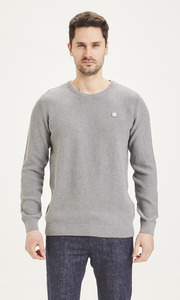 Strickpullover - FIELD pique badge - aus Bio-Baumwolle  - KnowledgeCotton Apparel