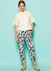 Frances printed trousers navy - People Tree