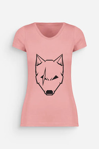 "Damen T-Shirt weiss Modell ""Wolf"" 50 % Bio-Baumwolle/recyceltes Polyester - Urban Cross"