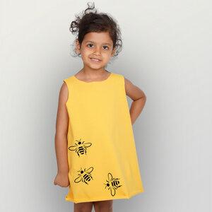 """""""Bienen"""" Kinder Biokleidchen (kbA) - HANDGEDRUCKT"""