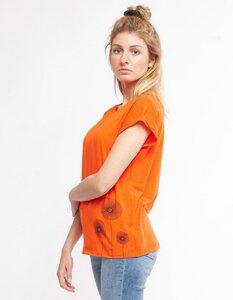 Eukalyptus T-Shirt Laura mit Mohnblumen - CORA happywear