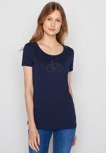 Damen Shirt 100% Biobaumwolle Bike Golden Bike Loves - GreenBomb