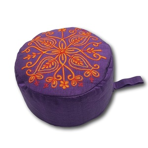 Yoga/Mediations -Sitzkissen aus Baumwolle mit Stickerei (Höhe 10cm, verschiedene Farben) - Frida Feeling