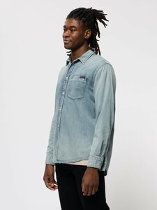 Albert Light Structure - Jeanshemd - Nudie Jeans