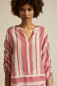 Bluse Print Stripe aus Bio-Baumwolle mit Seide - LANIUS