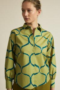 Hemdbluse Print Orient aus Bio-Baumwolle - LANIUS