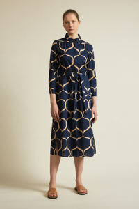 Hemdblusenkleid Print Orient aus Bio-Baumwolle - LANIUS