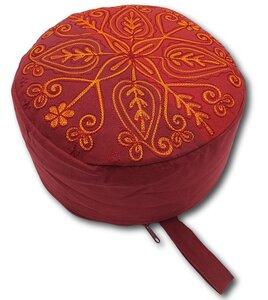 Yoga/Mediations -Sitzkissen aus Baumwolle mit Stickerei (Höhe 15cm, verschiedene Farben) - Frida Feeling