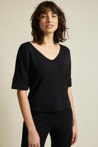 Shirt mit V-Ausschnitt aus TENCEL Lyocell - LANIUS