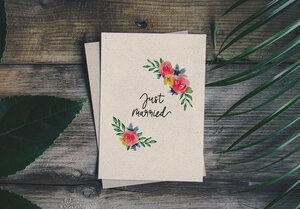 """Grußkarte Hochzeit Graspapier - """"Just Married"""" - Matabooks"""