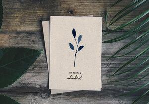 "Trauerkarte Graspapier - ""Abschied"" - Matabooks"