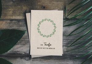 "Grußkarte Graspapier - ""Taufe"" - Matabooks"