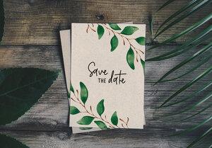"Einladungskarte Graspapier - ""Einladung"" - Matabooks"