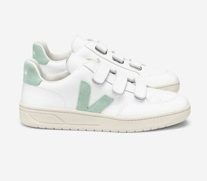 Sneaker Damen - V-Lock Leather - Extra White Matcha - Veja