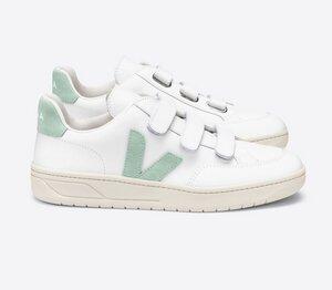Sneaker Damen - V-Lock Leather - Extra White Matcha - Veja