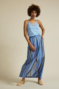 Maxirock Print Stripe aus Bio-Baumwolle mit Seide - LANIUS
