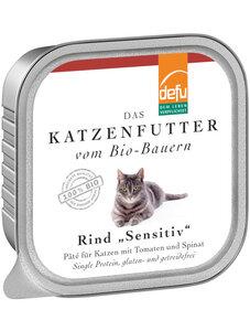 defu Bio Rind Sensitiv Pâté für Katzen - defu - dem Leben verpflichtet