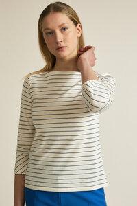 U-Boot Shirt mit Streifen GOTS aus Bio-Baumwolle - LANIUS