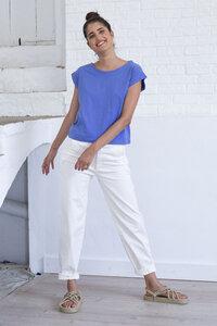 Hose aus Bio Baumwolle - Ehime Twill Pants Natural Color - Weiß - Suite 13