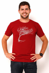 Ecovero®-Herren-T-Shirt Windy Tree - Peaces.bio - Ecovero® - handbedruckt