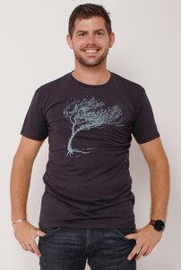 Ecovero®-Herren-T-Shirt Windy Tree - Peaces.bio - Ecovero® - handbedruckt