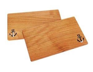 Anker Brettchen aus Kirschholz - Größe: 26x15x1 cm - ReineNatur
