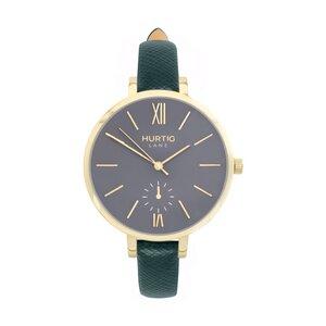 Amalfi Petite Veganes Leder Uhr Gold/Grau - Hurtig Lane