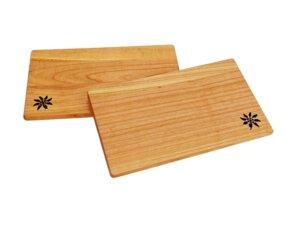 Edelweiß Brettchen aus Kirschholz - Größe: 26x15x1 cm - ReineNatur
