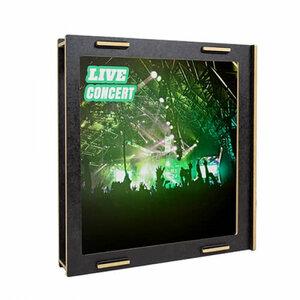LP Schallplatten Rahmen aus Holz - Bilderrahmen weiß / schwarz - Werkhaus GmbH