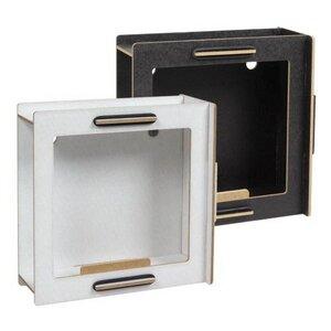 CD Frame Rahmen aus Holz - Bilderrahmen weiß / schwarz - Werkhaus GmbH