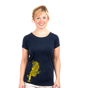Embrace the World With Ideas - T-Shirt Frauen mit Print - Coromandel