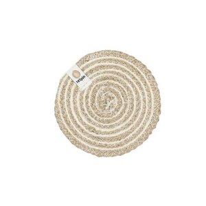 Untersetzer aus Jute mit Spiraldesign Ø 11cm - reSpiin