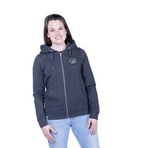 "Damen Zip Hoody ""ELIconGirl"" in dark heather grey - ecolodge fashion"