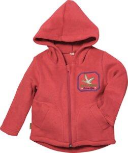 Lotties Kinder Kapuzenjacke Bio Fleece rot oder blau 86/92-122/128 - Lotties