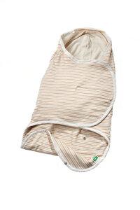 Lotties Baby Strampelsack Pucksack Bio Baumwolle gestreift 57-67 cm - Lotties