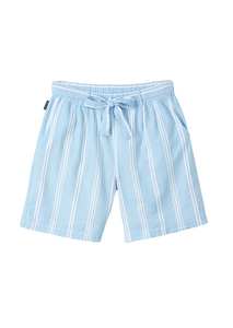 Kurze Frauen Hose aus Leinen-Baumwoll-Gemisch | Shorts #STRIPES - recolution