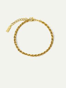 Goldenes Armband Alice   Nachhaltige Kordel-Armkette - DEAR DARLING BERLIN